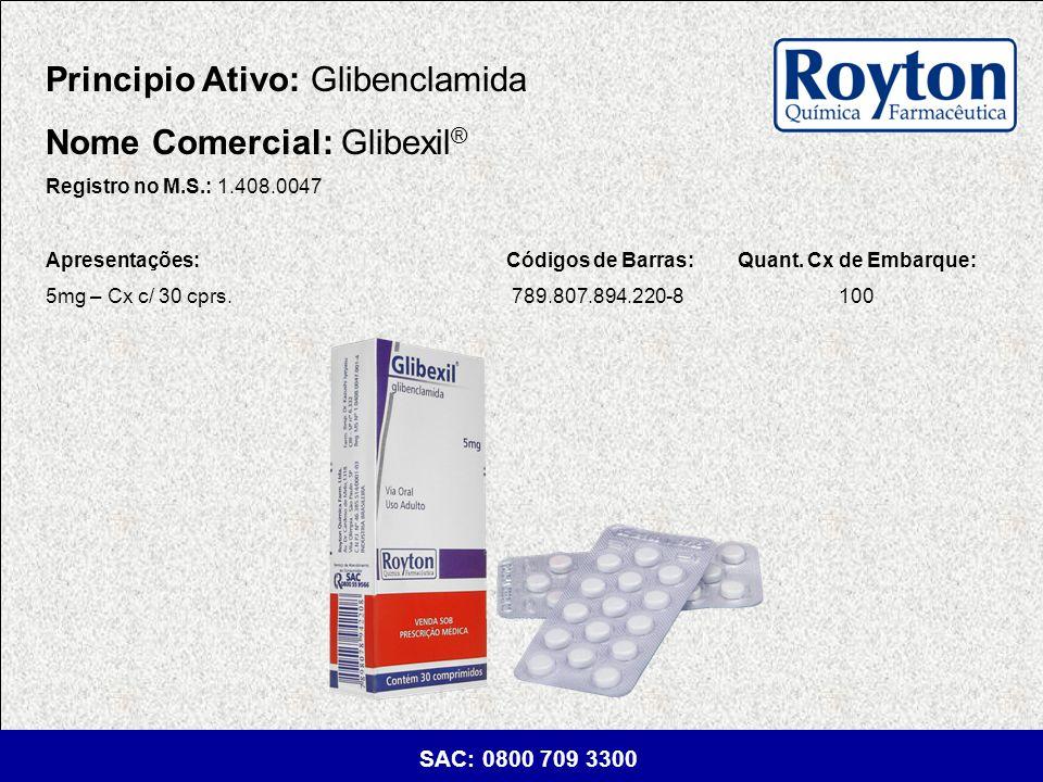Principio Ativo: Glibenclamida Nome Comercial: Glibexil®