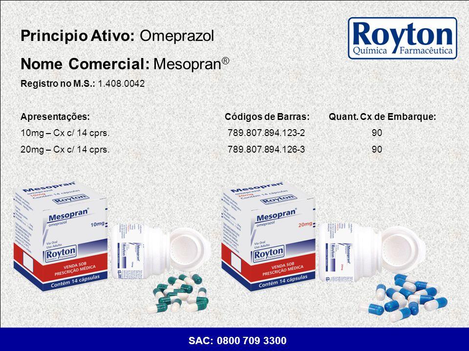 Principio Ativo: Omeprazol Nome Comercial: Mesopran®