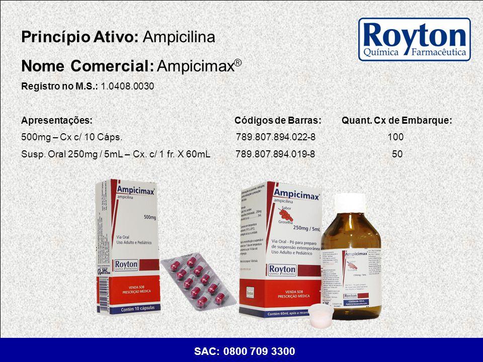Princípio Ativo: Ampicilina Nome Comercial: Ampicimax®