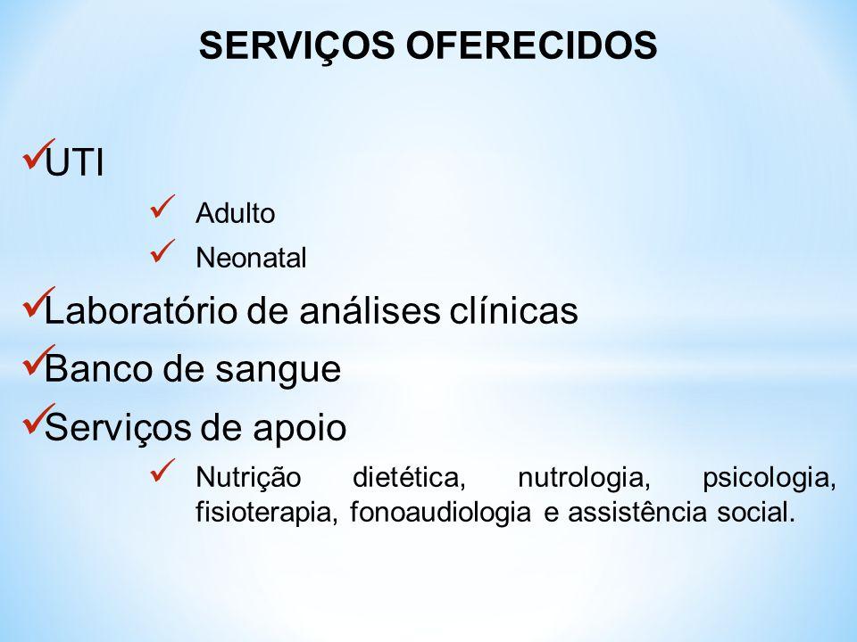 Laboratório de análises clínicas Banco de sangue Serviços de apoio