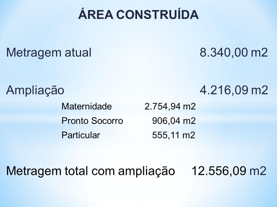 Metragem total com ampliação 12.556,09 m2