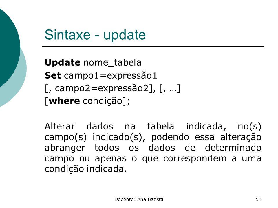 Sintaxe - update