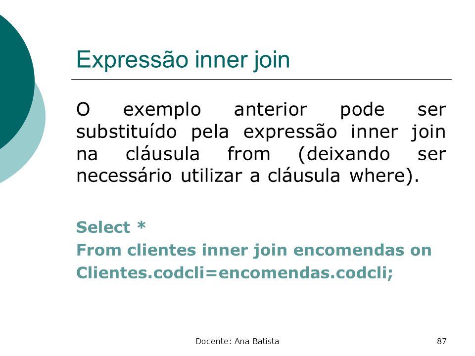 Expressão inner join