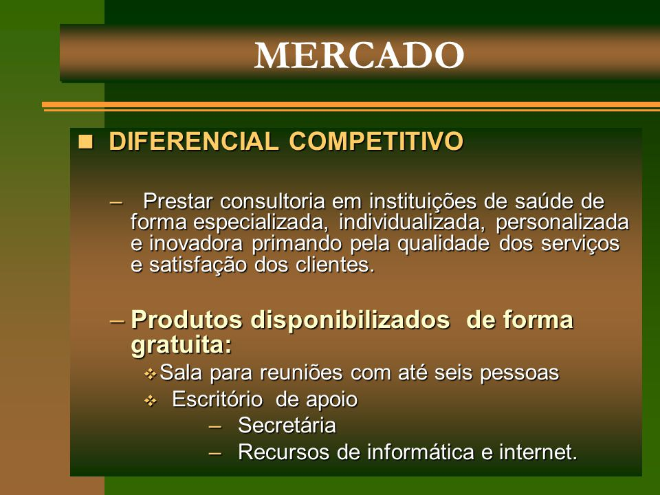 MERCADO DIFERENCIAL COMPETITIVO