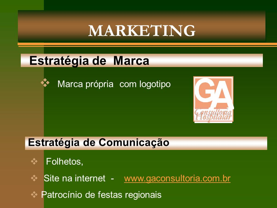 MARKETING Estratégia de Marca Marca própria com logotipo