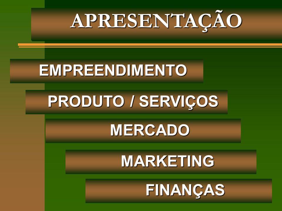 APRESENTAÇÃO EMPREENDIMENTO PRODUTO / SERVIÇOS MERCADO MARKETING