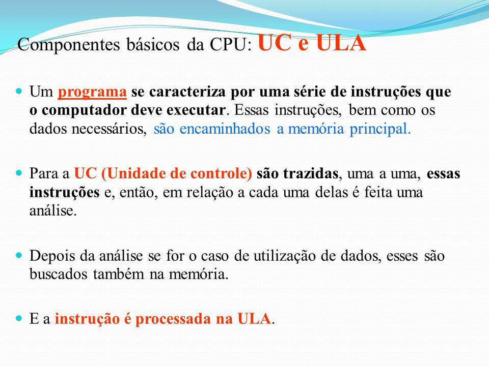 Componentes básicos da CPU: UC e ULA