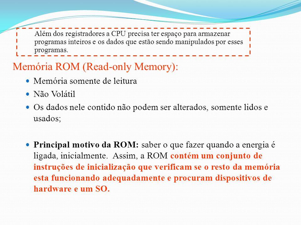 Memória ROM (Read-only Memory):