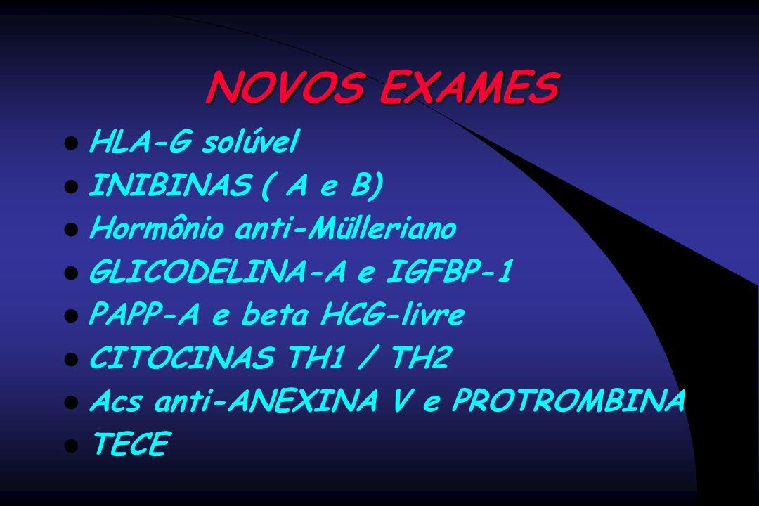 NOVOS EXAMES HLA-G solúvel INIBINAS ( A e B) Hormônio anti-Mülleriano