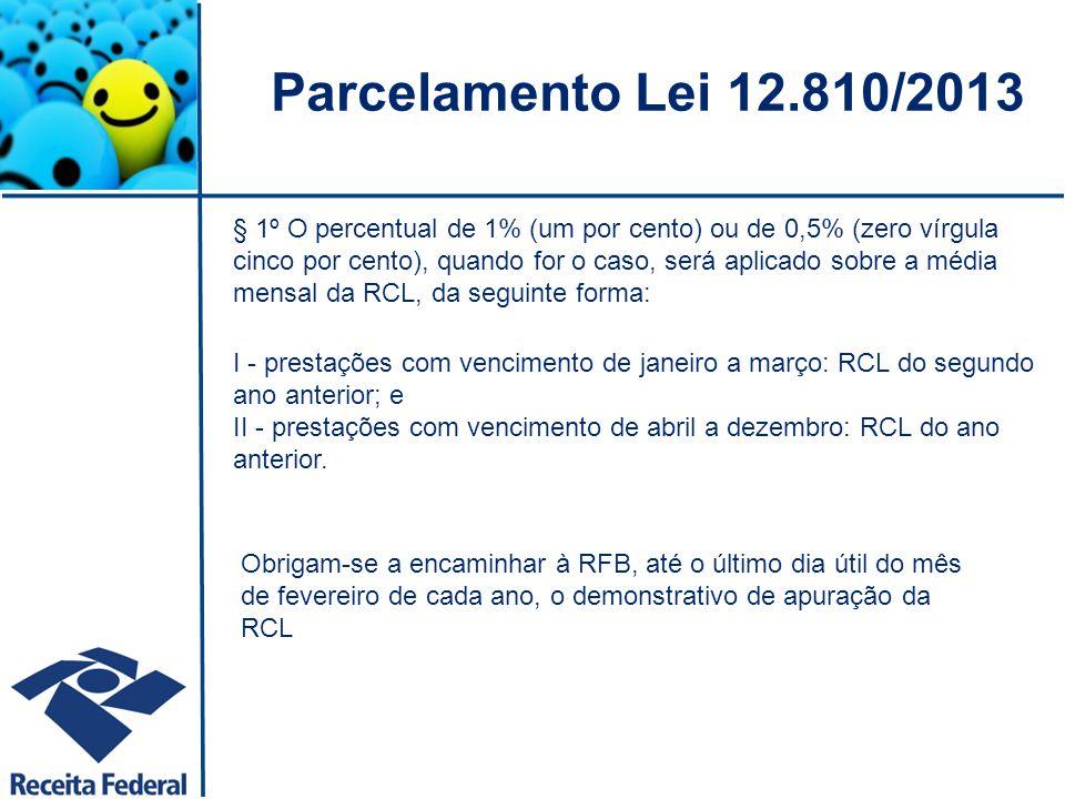 Parcelamento Lei 12.810/2013