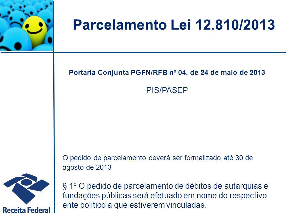 Portaria Conjunta PGFN/RFB nº 04, de 24 de maio de 2013