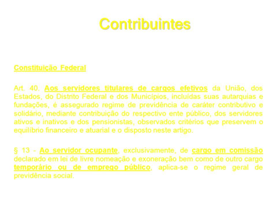 Contribuintes Constituição Federal