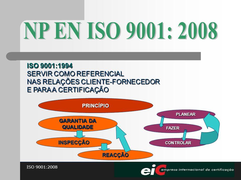 NP EN ISO 9001: 2008 ISO 9001:1994 SERVIR COMO REFERENCIAL