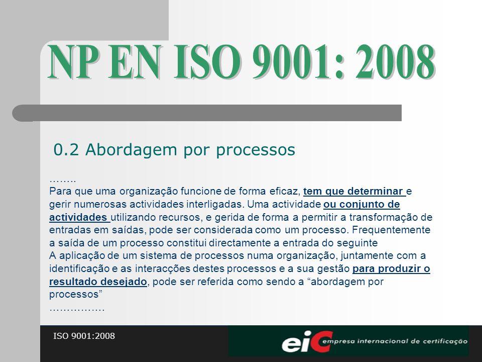 NP EN ISO 9001: 2008 0.2 Abordagem por processos ……..