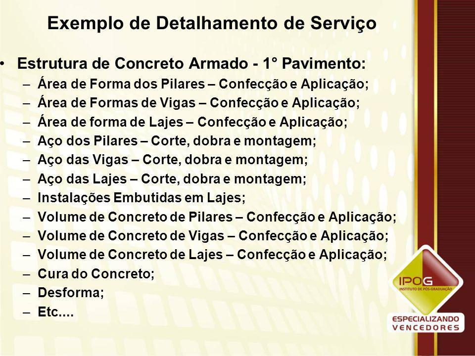 Exemplo de Detalhamento de Serviço