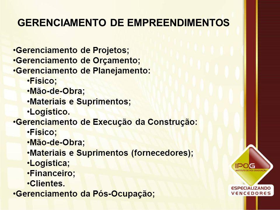 GERENCIAMENTO DE EMPREENDIMENTOS