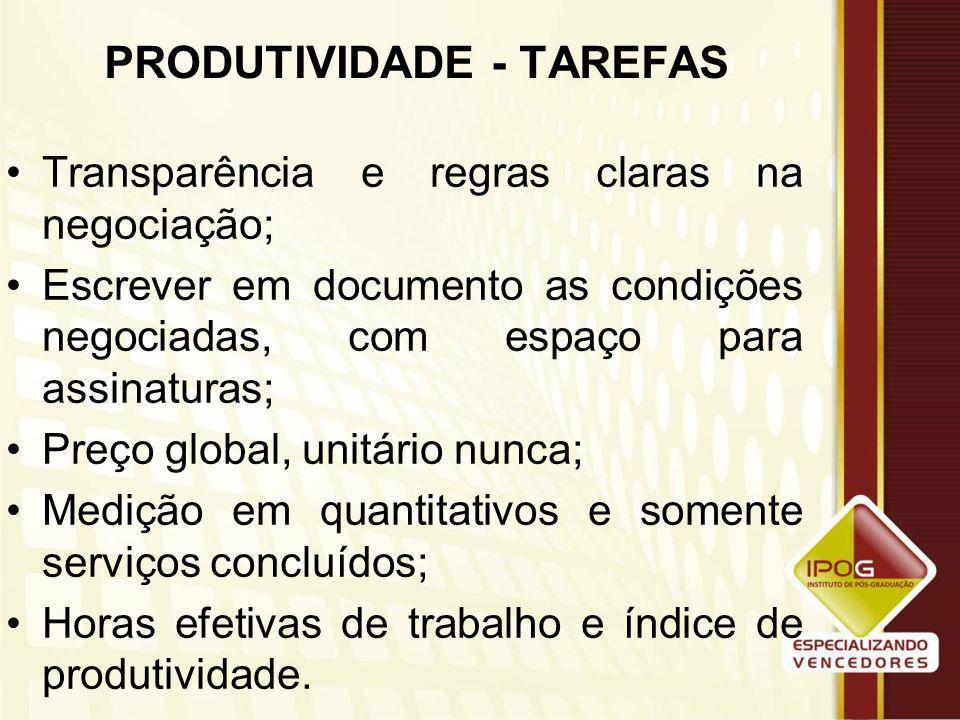 PRODUTIVIDADE - TAREFAS