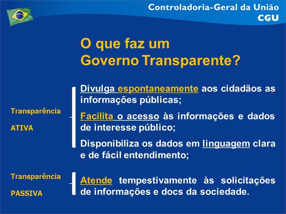 O que faz um Governo Transparente