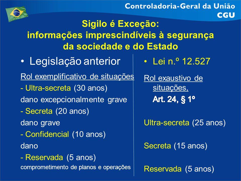 informações imprescindíveis à segurança da sociedade e do Estado