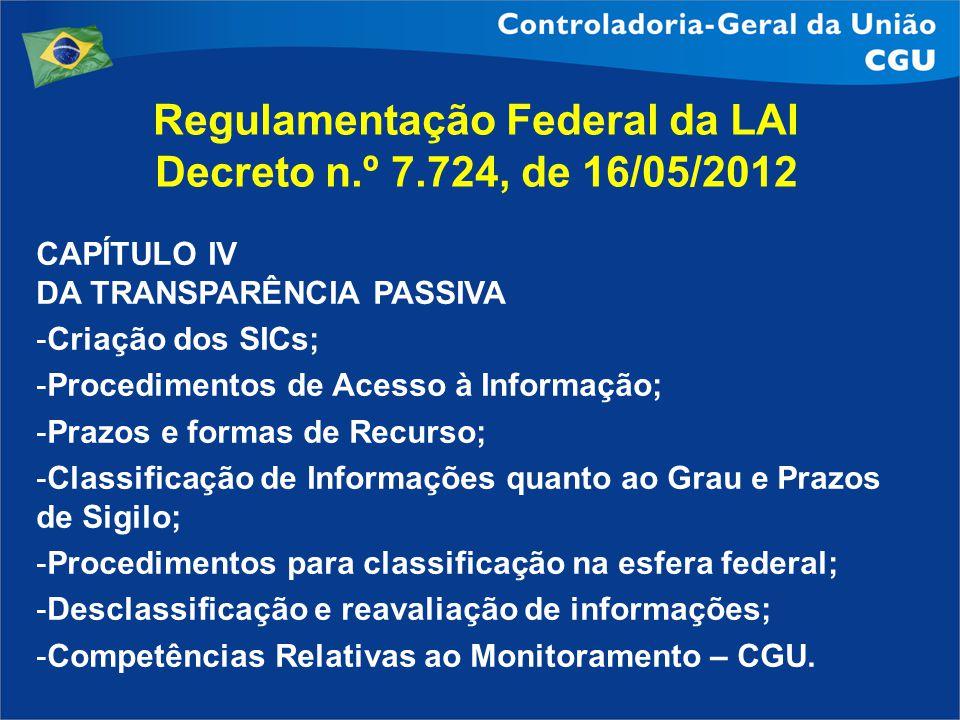 Regulamentação Federal da LAI