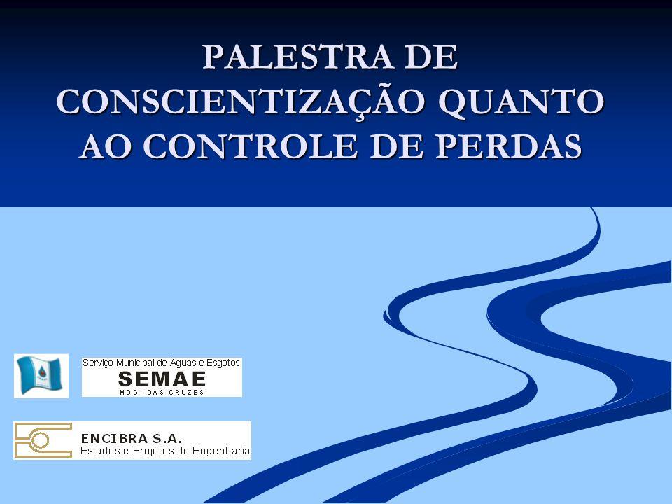 PALESTRA DE CONSCIENTIZAÇÃO QUANTO AO CONTROLE DE PERDAS