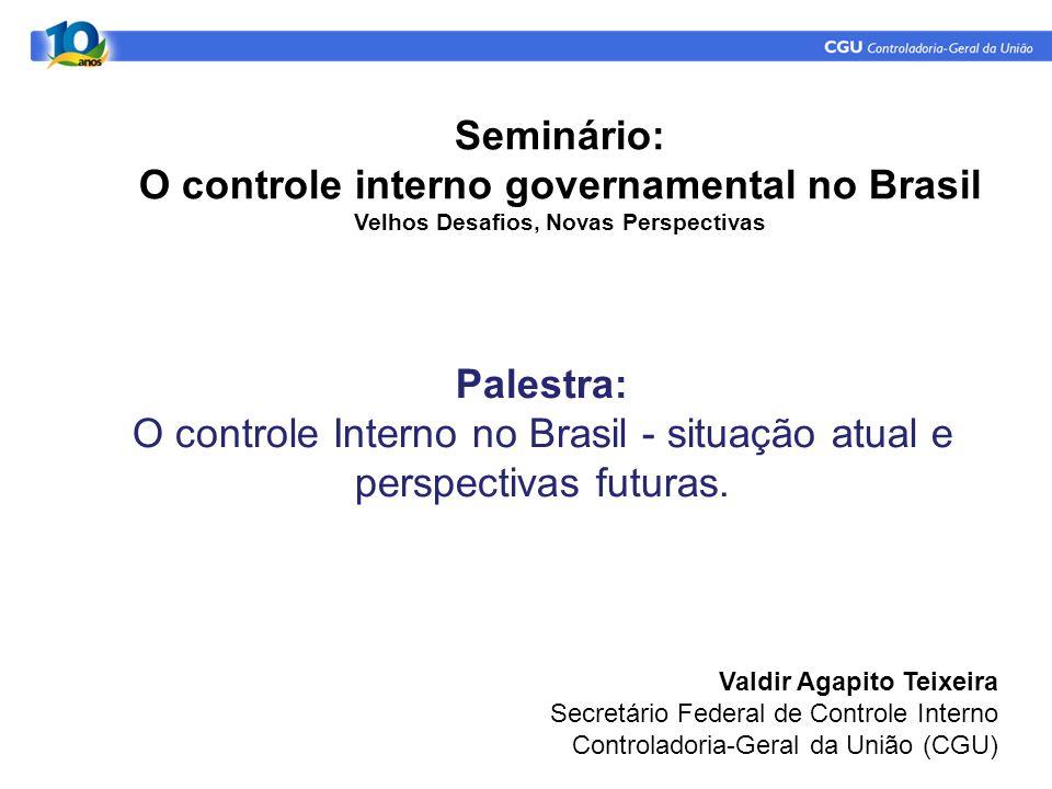 Seminário: O controle interno governamental no Brasil Velhos Desafios, Novas Perspectivas.