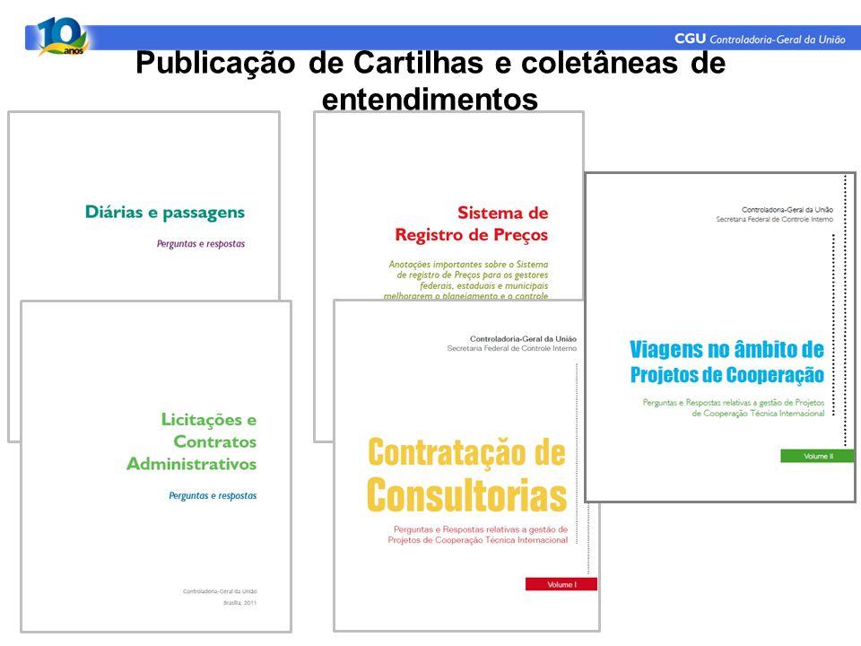 Publicação de Cartilhas e coletâneas de entendimentos