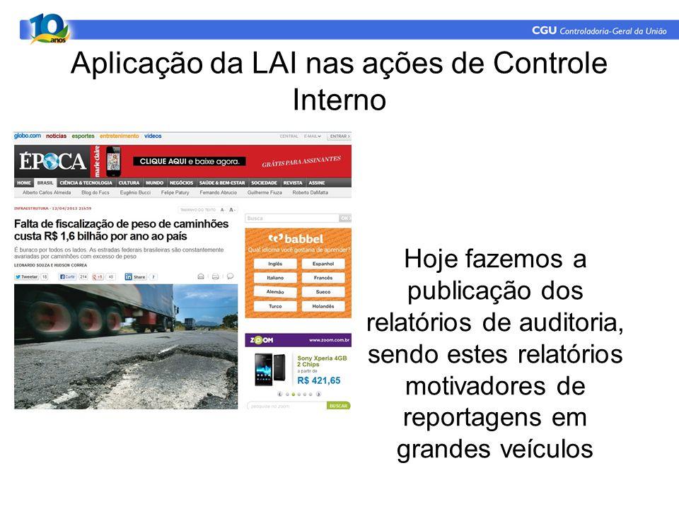 Aplicação da LAI nas ações de Controle Interno