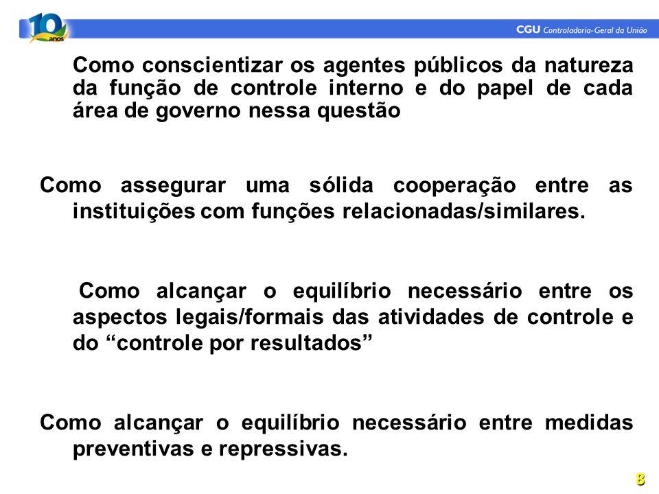 Como conscientizar os agentes públicos da natureza da função de controle interno e do papel de cada área de governo nessa questão