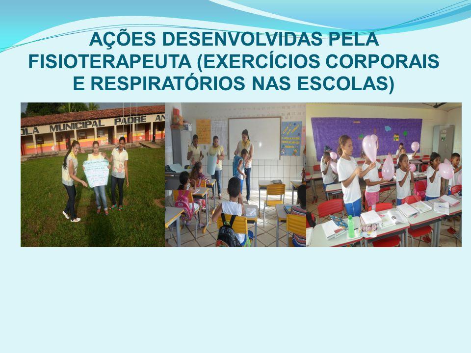 AÇÕES DESENVOLVIDAS PELA FISIOTERAPEUTA (EXERCÍCIOS CORPORAIS E RESPIRATÓRIOS NAS ESCOLAS)