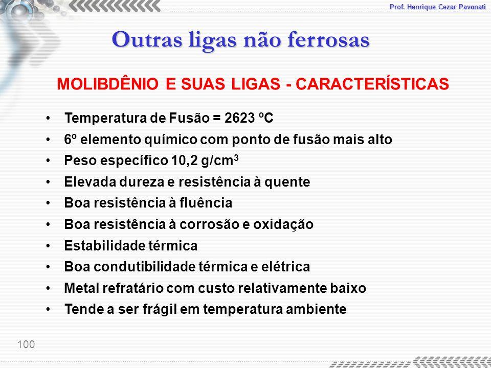 MOLIBDÊNIO E SUAS LIGAS - CARACTERÍSTICAS