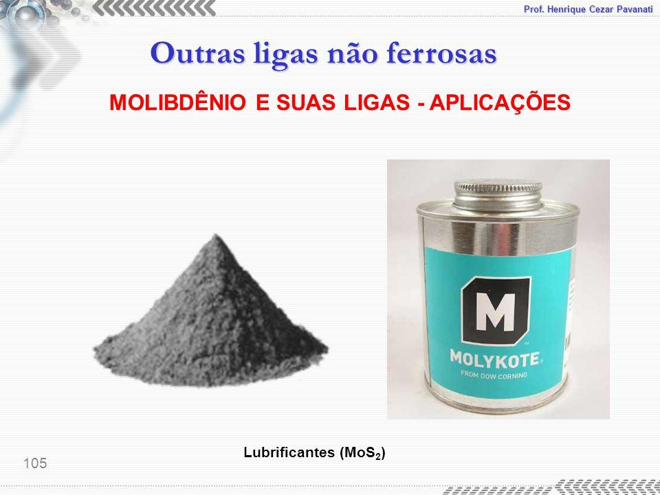MOLIBDÊNIO E SUAS LIGAS - APLICAÇÕES