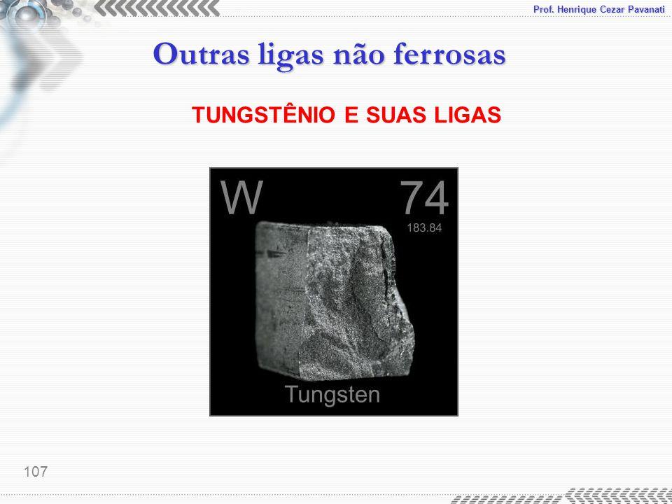 TUNGSTÊNIO E SUAS LIGAS