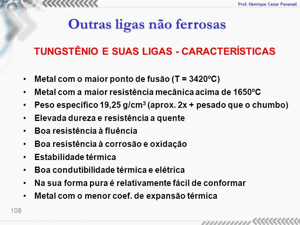 TUNGSTÊNIO E SUAS LIGAS - CARACTERÍSTICAS