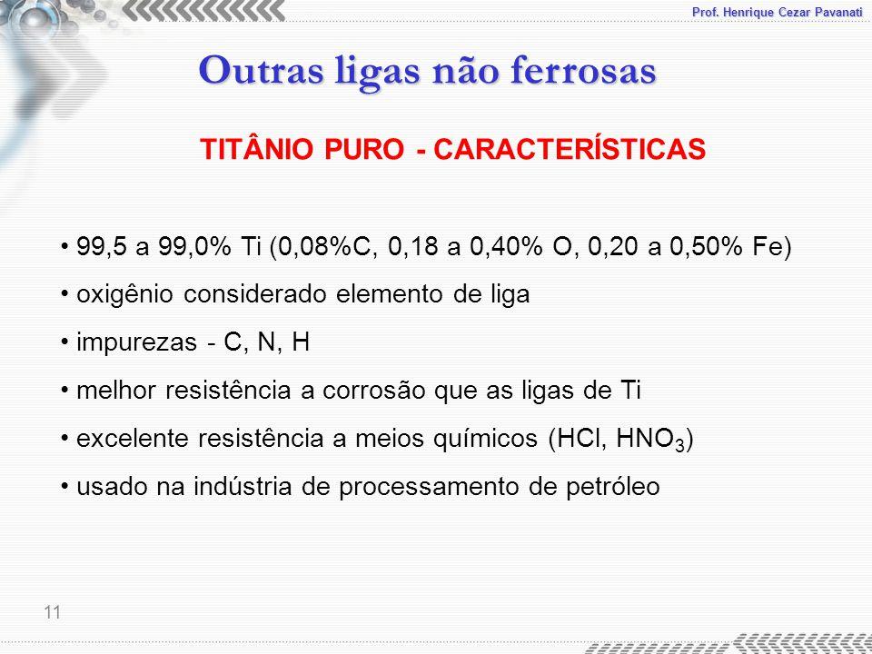 TITÂNIO PURO - CARACTERÍSTICAS