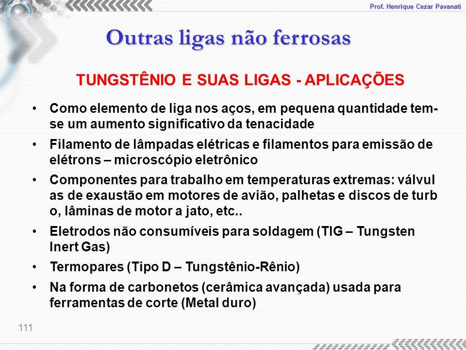 TUNGSTÊNIO E SUAS LIGAS - APLICAÇÕES