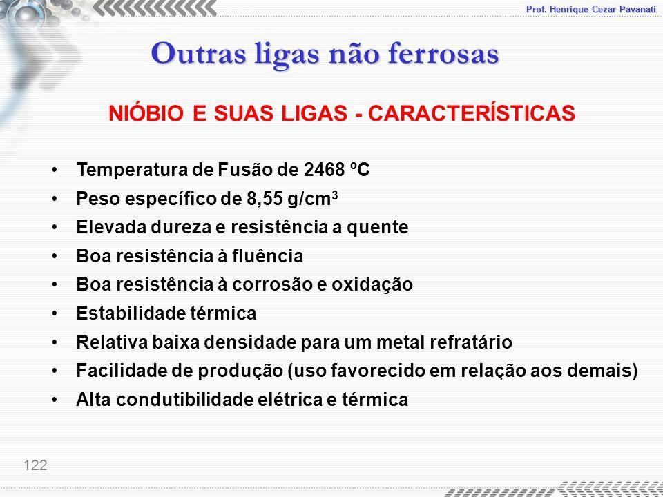 NIÓBIO E SUAS LIGAS - CARACTERÍSTICAS