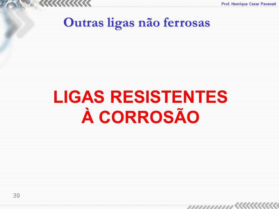 LIGAS RESISTENTES À CORROSÃO