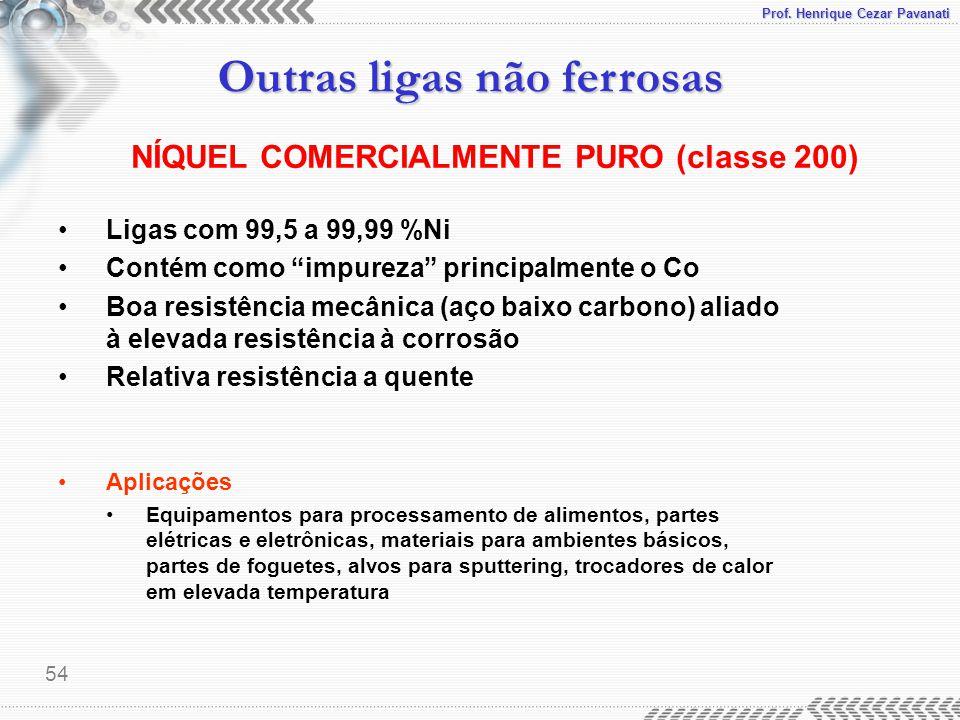 NÍQUEL COMERCIALMENTE PURO (classe 200)
