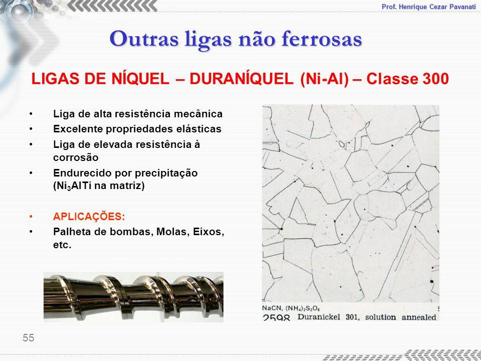 LIGAS DE NÍQUEL – DURANÍQUEL (Ni-Al) – Classe 300