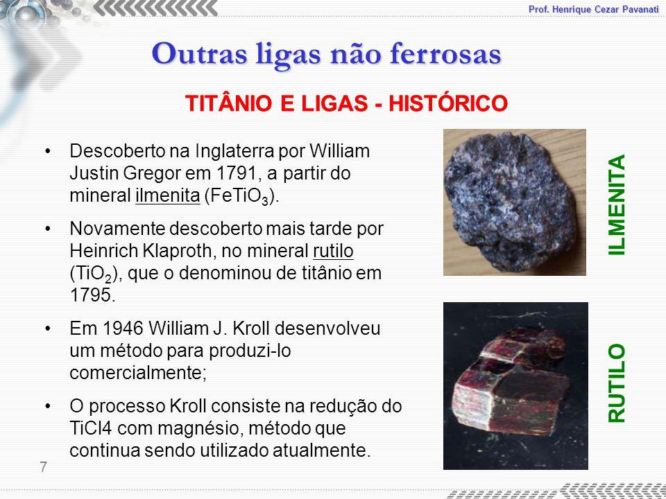 TITÂNIO E LIGAS - HISTÓRICO TITÂNIO E LIGAS - HISTÓRICO