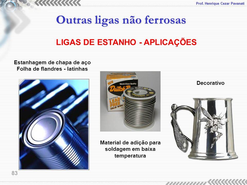 LIGAS DE ESTANHO - APLICAÇÕES