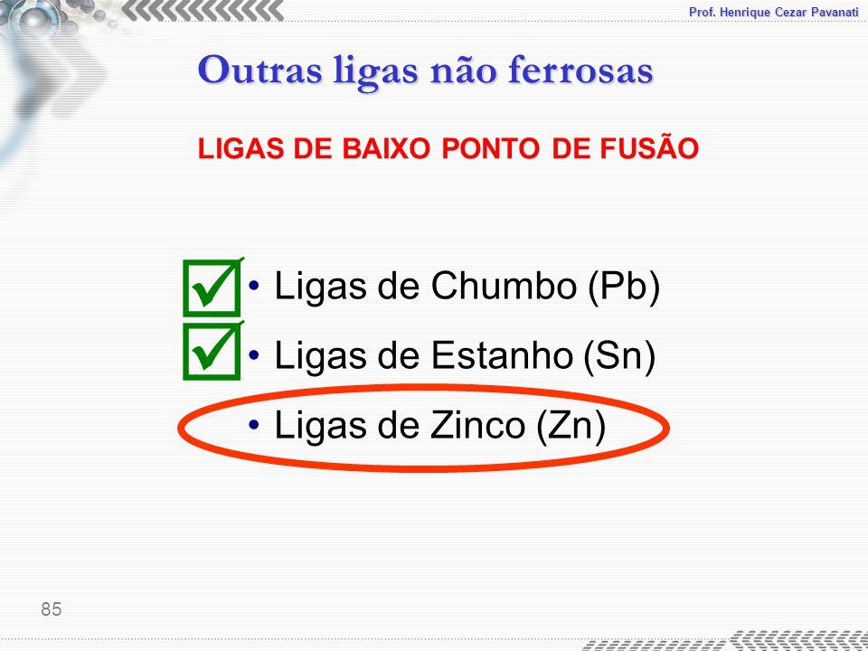 LIGAS DE BAIXO PONTO DE FUSÃO