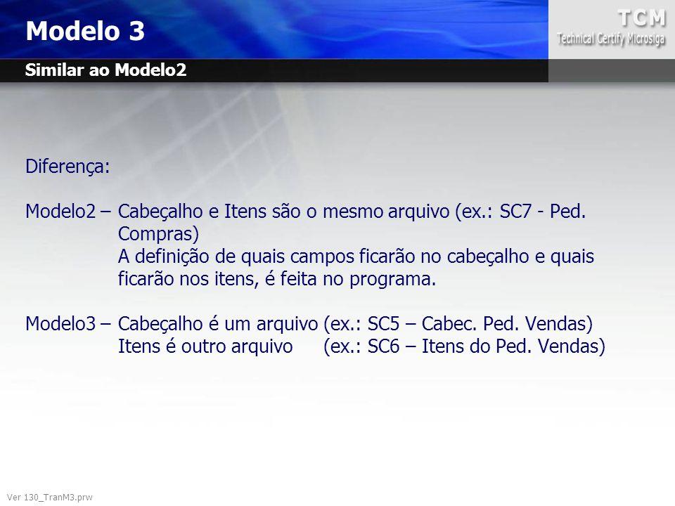 Modelo 3 Similar ao Modelo2.