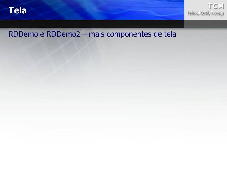 RDDemo e RDDemo2 – mais componentes de tela