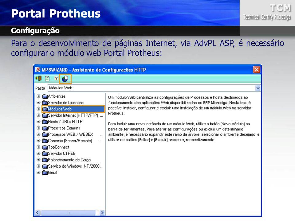 Portal Protheus Configuração.