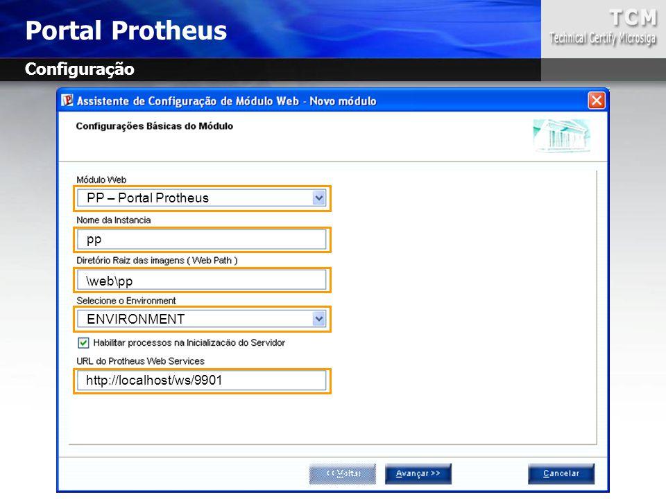 Portal Protheus Configuração PP – Portal Protheus pp \web\pp