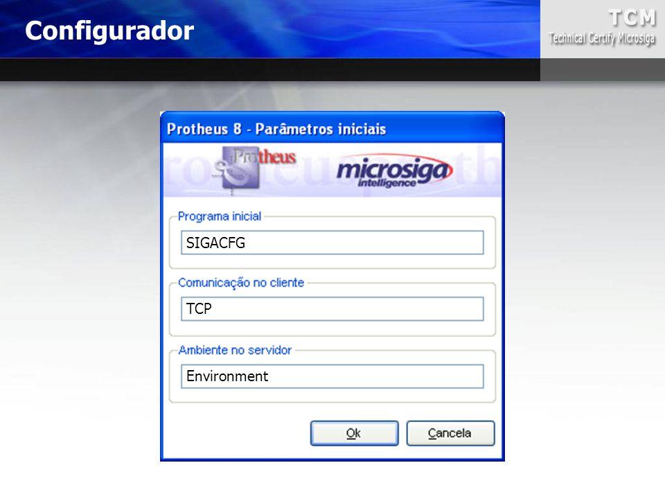 Configurador SIGACFG TCP Environment