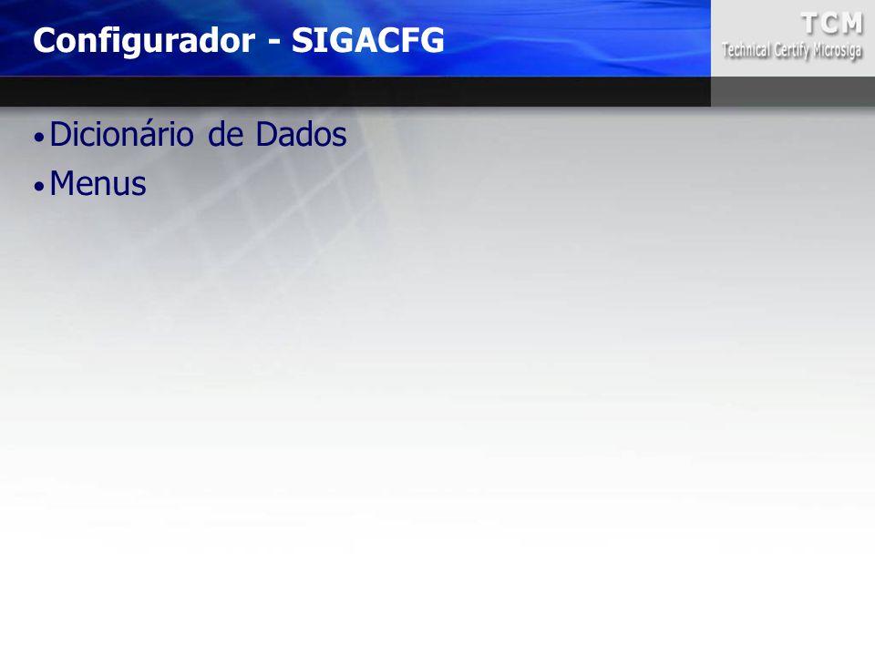 Configurador - SIGACFG