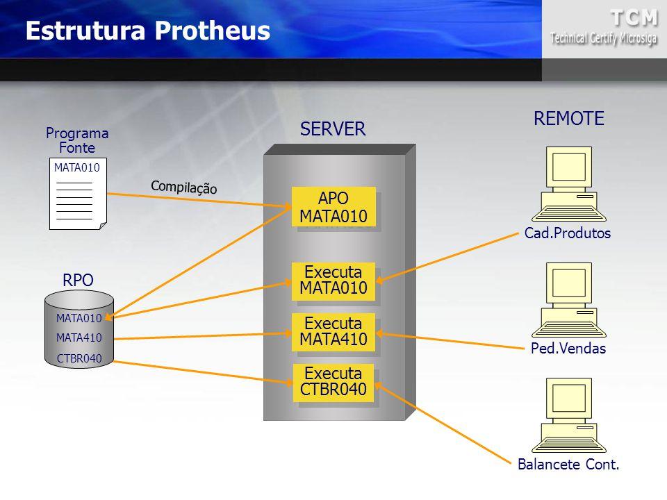 Estrutura Protheus REMOTE SERVER APO MATA010 Executa RPO MATA010
